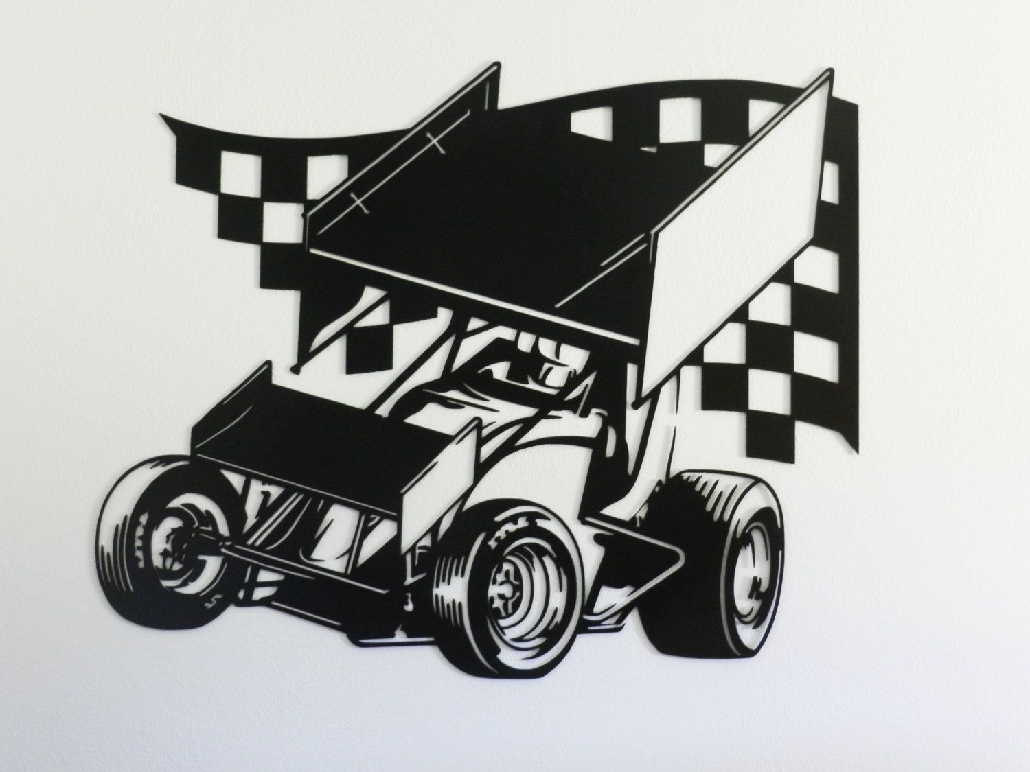 Race Track Wall Stickers Sprint Car Racing Metal Wall Art Sprint Car Racing And Cars