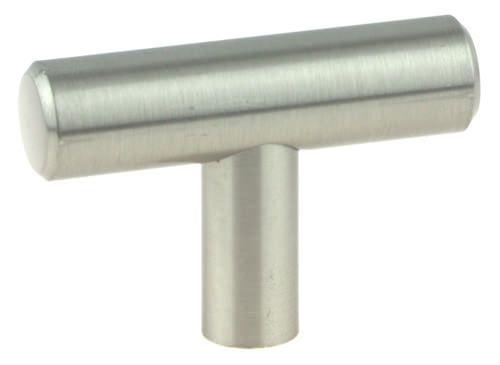 """Steel Bar """"T"""" Knob – Satin Nickel P2685-TK"""
