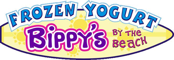 Bippy's by the Beach Beach, Shop logo, Frozen yogurt