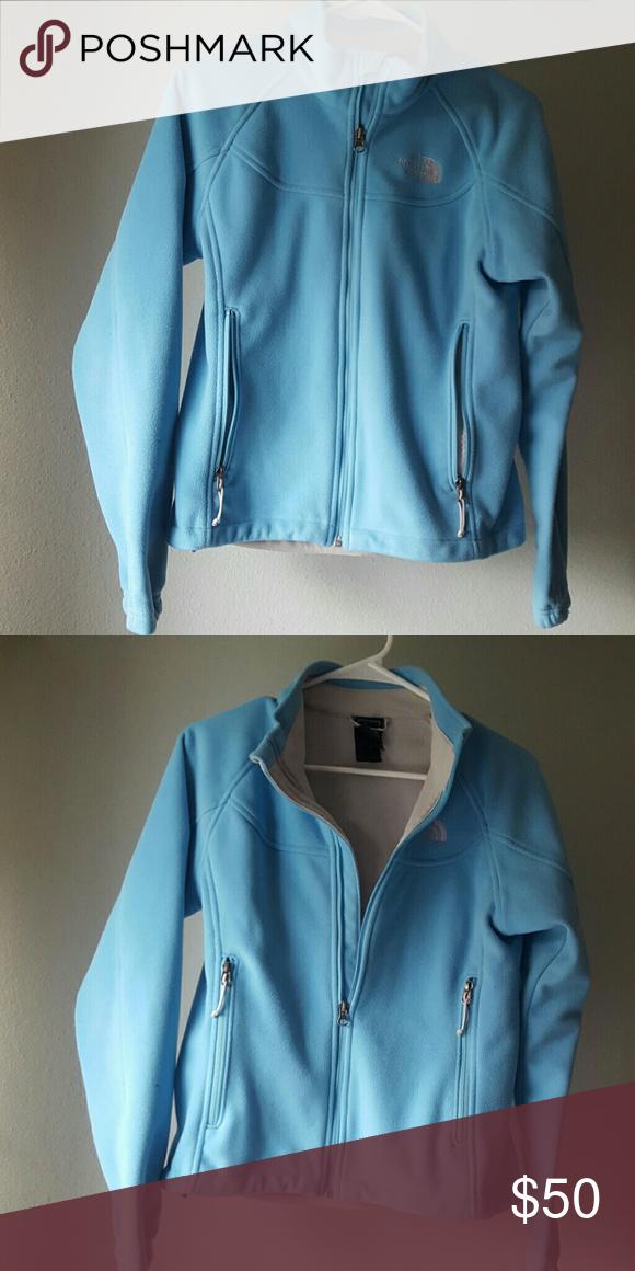 Blue fleece northface jacket Pretty northface jacket. Good condition. North Face Jackets & Coats
