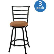 Walmart Mainstays Metal Swivel Counter Stool 24'' Set Of 3 Adorable Walmart Kitchen Stools Decorating Inspiration