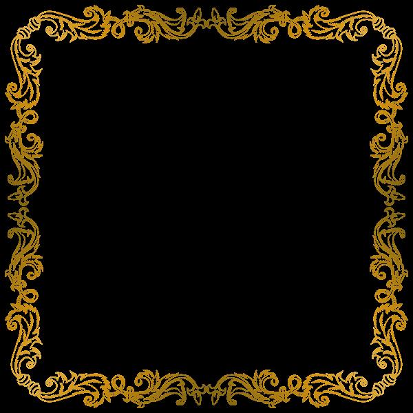 Golden Border PNG Clip Art Image | Crafting Paper ...