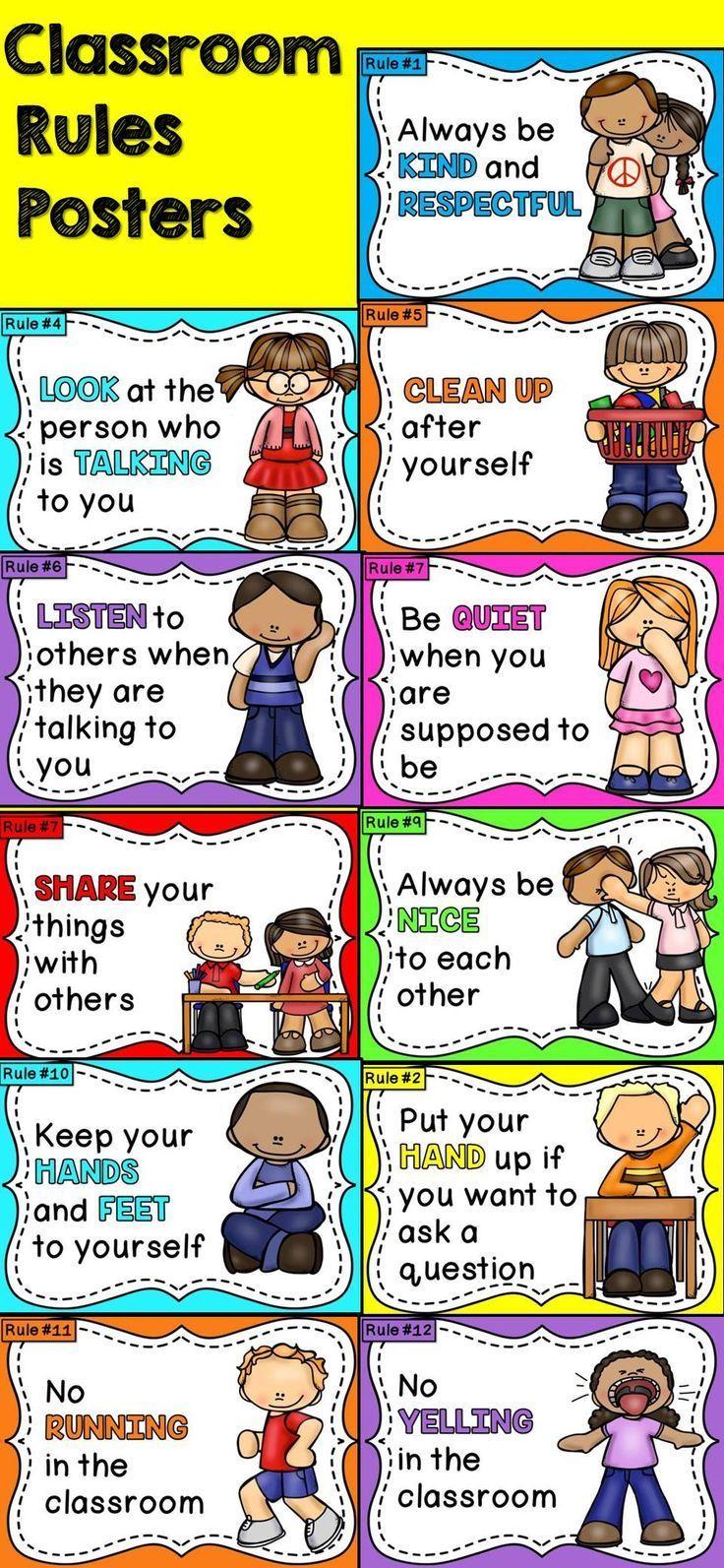 Classroom Rules Editable Classroom rules, Preschool