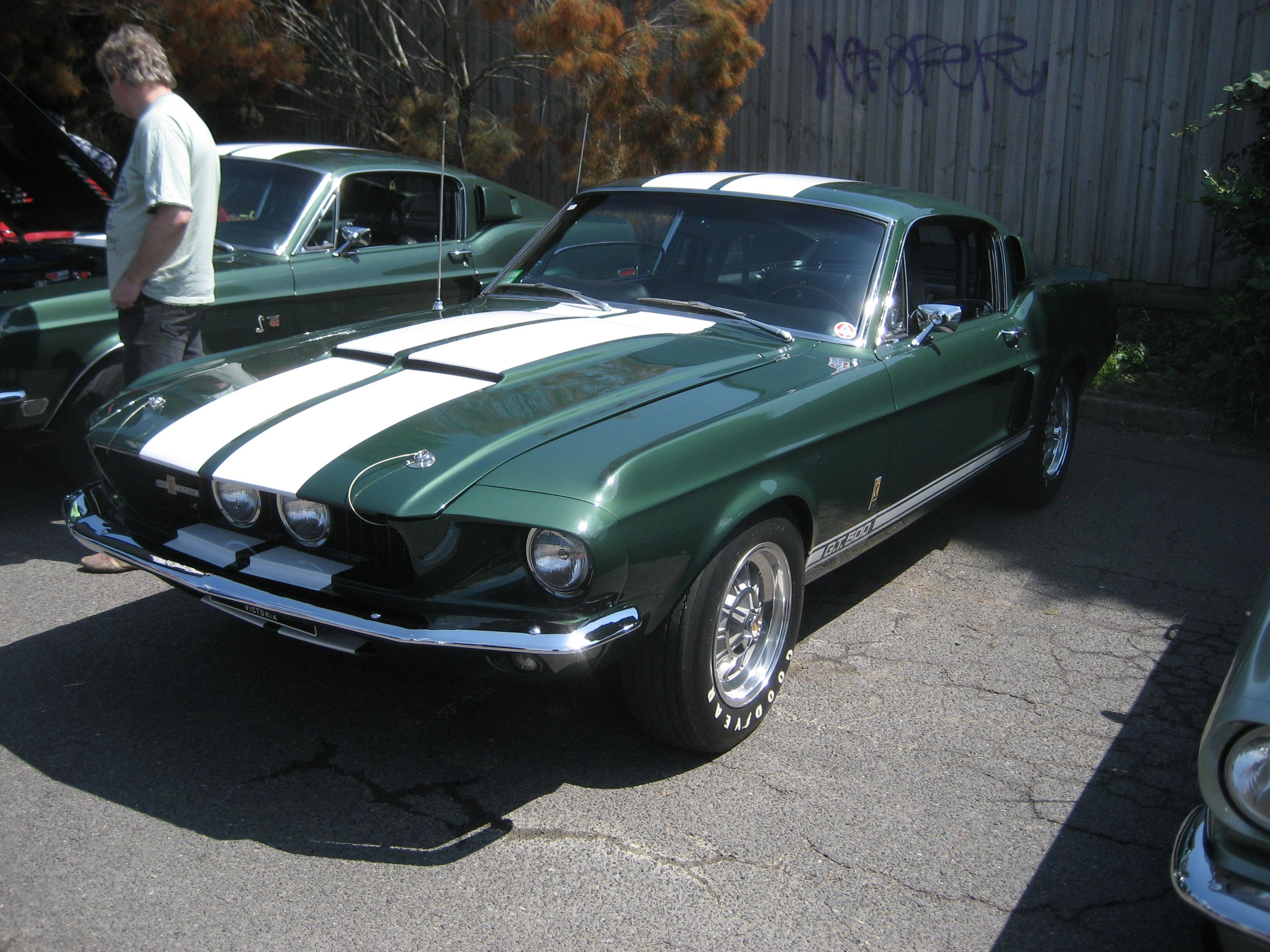 1967 shelby gt 500 dark moss green