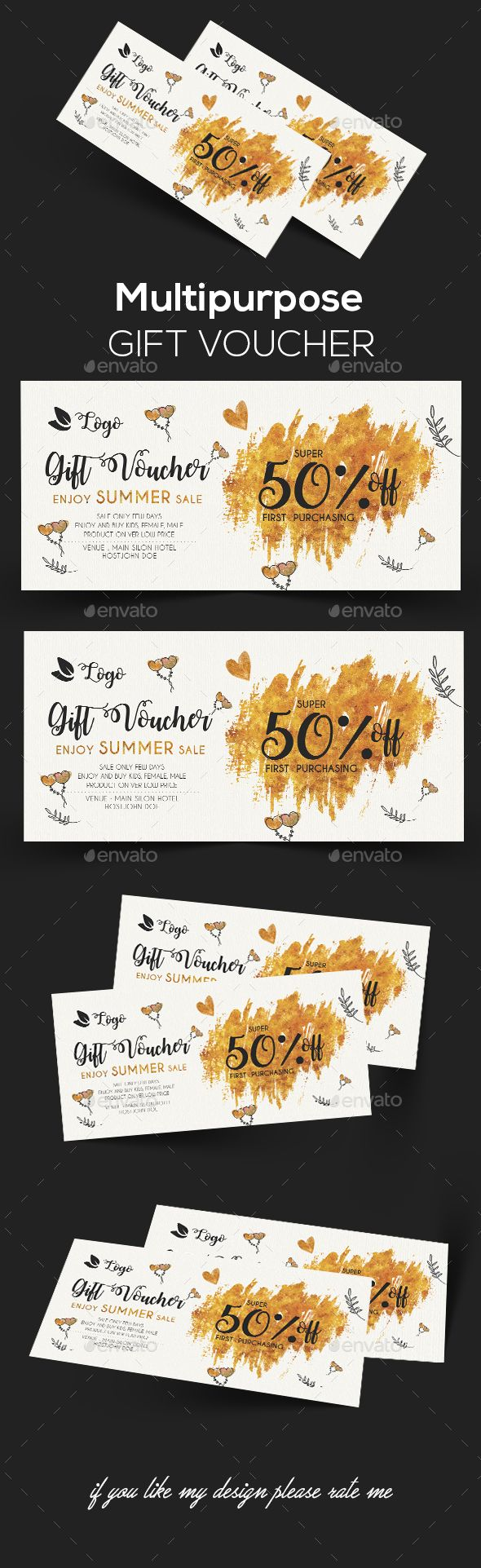 Gift Voucher | Template, Font logo and Logos