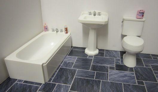 Art Deco Style Bathroom Suite Elf Miniatures With Images Bathroom Styling Bathroom Suite Diy Bathroom