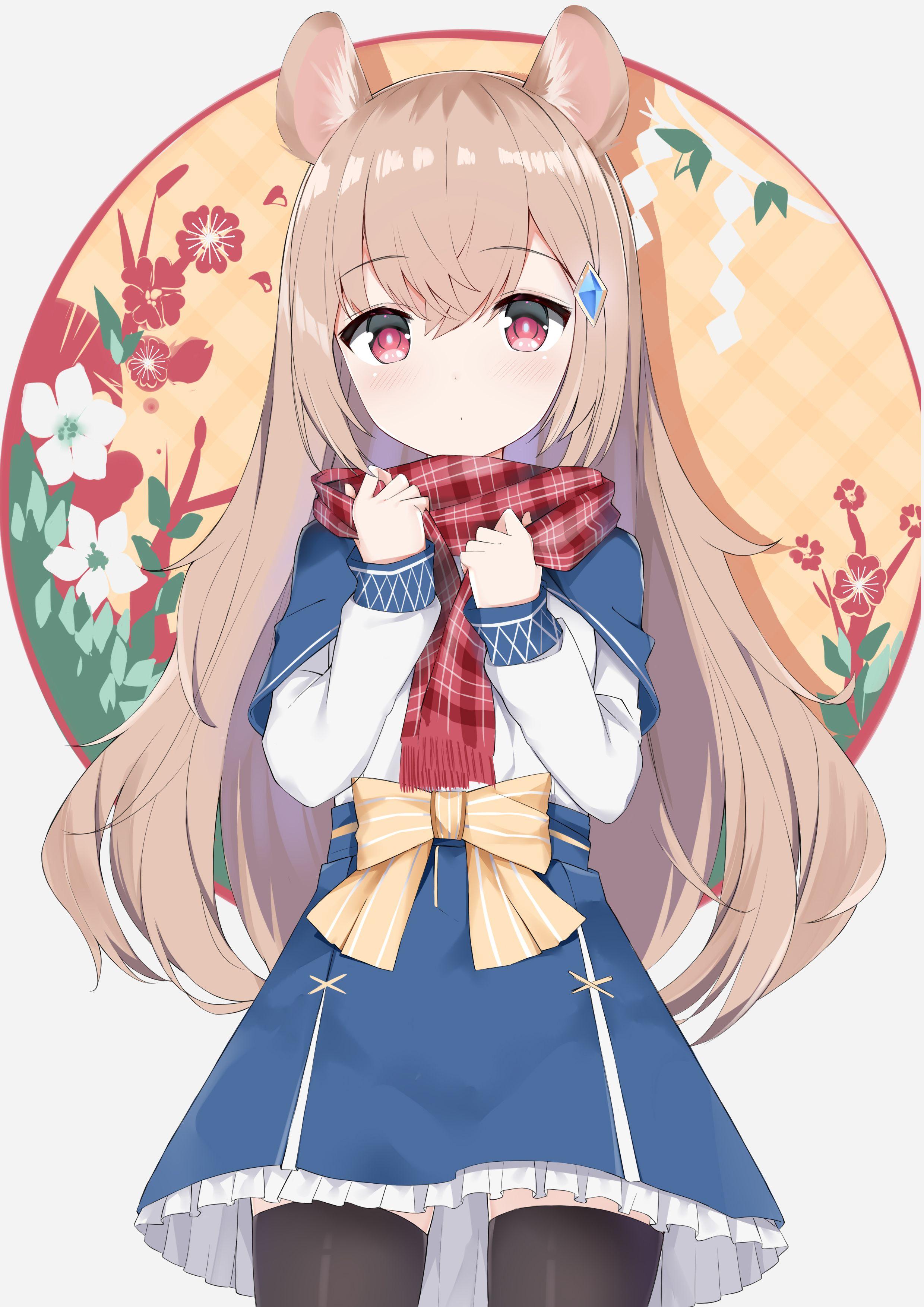 Little Mouse Girl Original In 2020 Cute Neko Girl Anime