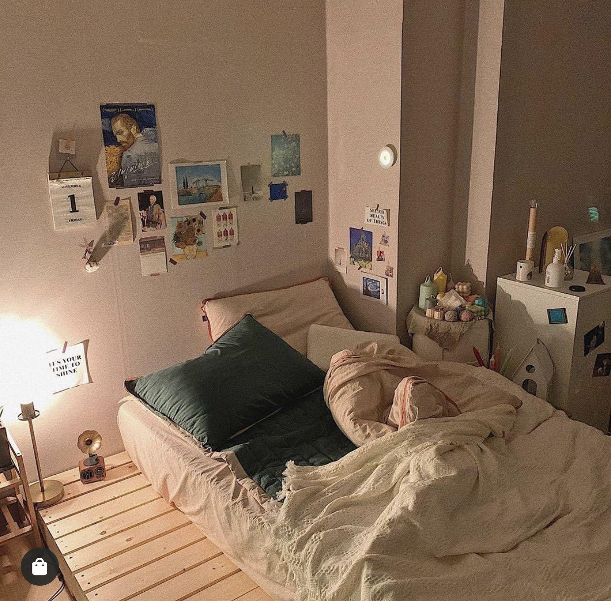 Pin Oleh Fannyadella Design Di Home Ide Dekorasi Kamar Ide Dekorasi Rumah Ide Dekorasi Kamar Tidur Korean-style minimalist bedroom decoration