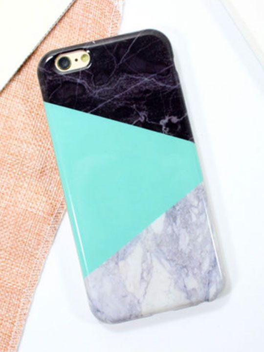 Marble Geometric iPhone 7 Cover - Hello Supply Modern Jewelry