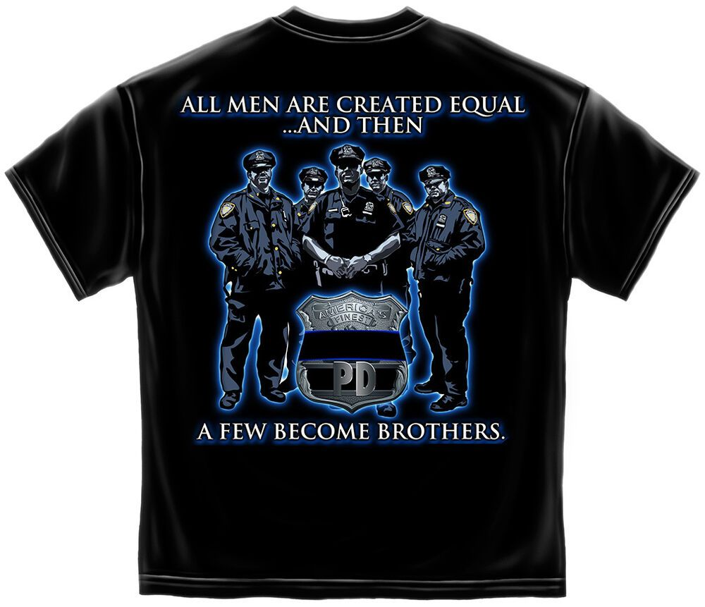 LAW ENFORCEMENT T-Shirt Police Officer Cop PD America Brotherhood Mens TEE S-3XL