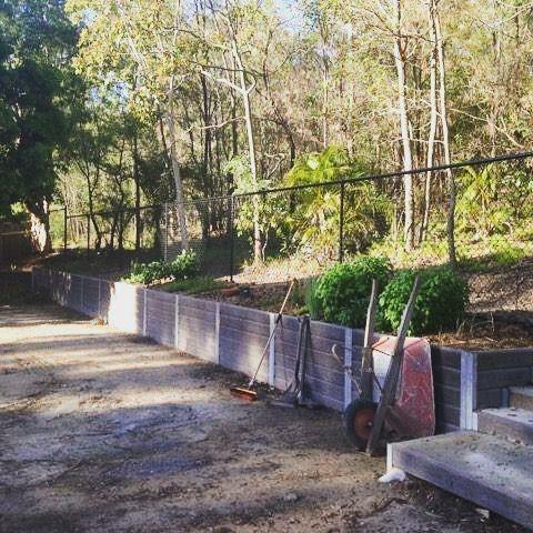 Ridgi Ironbark Concrete Sleeper Retaining Wall Available At Bunnings Warehouse Concrete Sleeper Retaining Walls Retaining Wall Concrete Sleepers