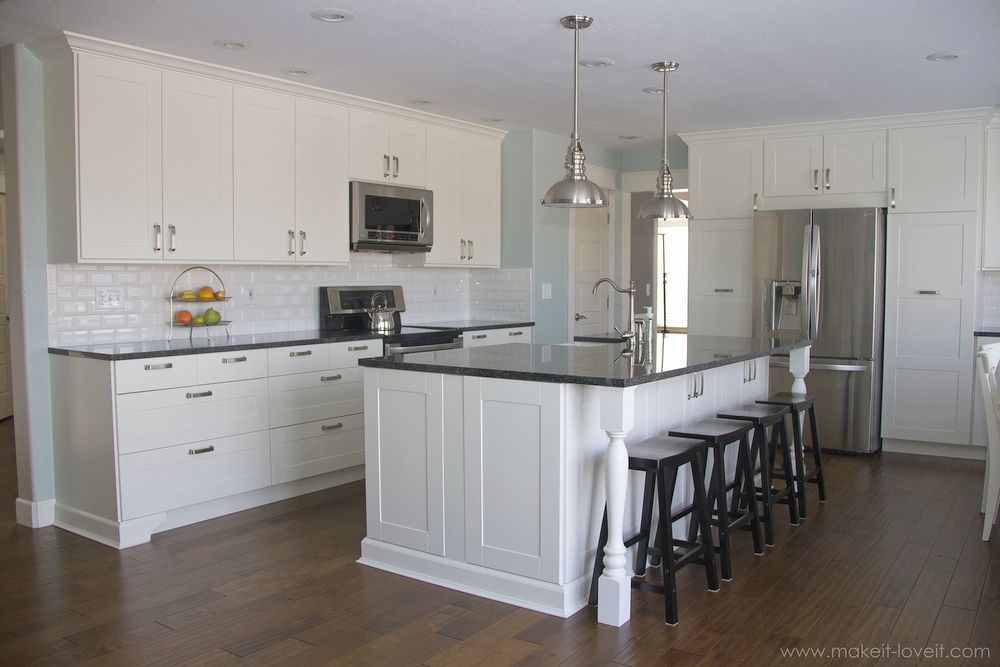 Charming Home Improvement: Adding Column Supports To Counter Overhang (PLUS Finished  Kitchen Photos!