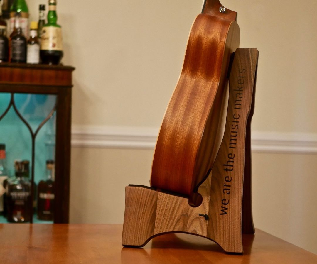 How To Build A Diy Wooden Guitar Stand Free Template Simply