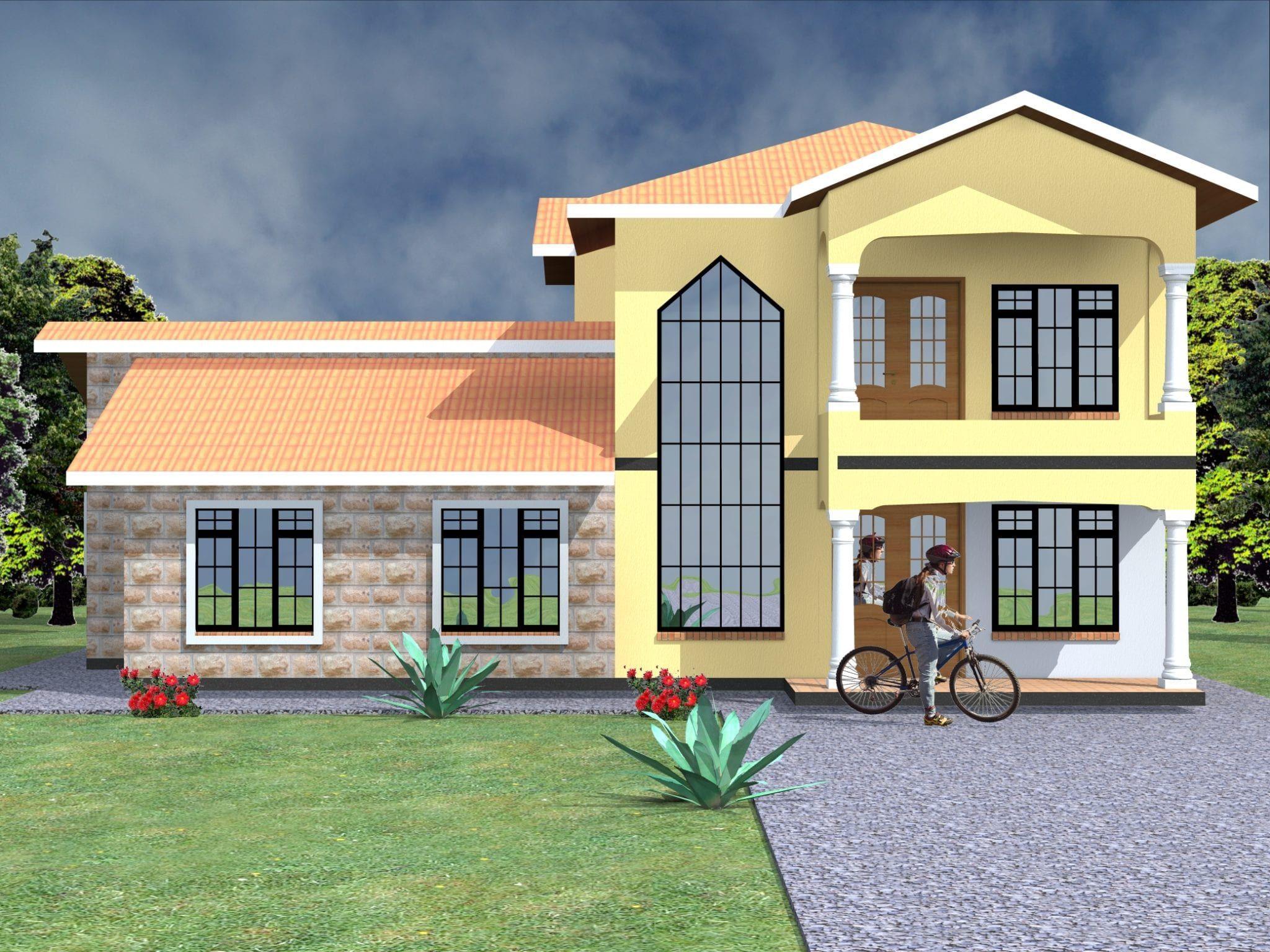 4 Bedroom Design 1029 A House Maisonette House Plans
