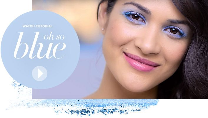 Oh So Blue: Master the matte blue eyeshadow trend for a wearable springtime look. SHOP THE LOOK: https://www.avon.com/products/productline/826?c=repPWP&repid=07659965
