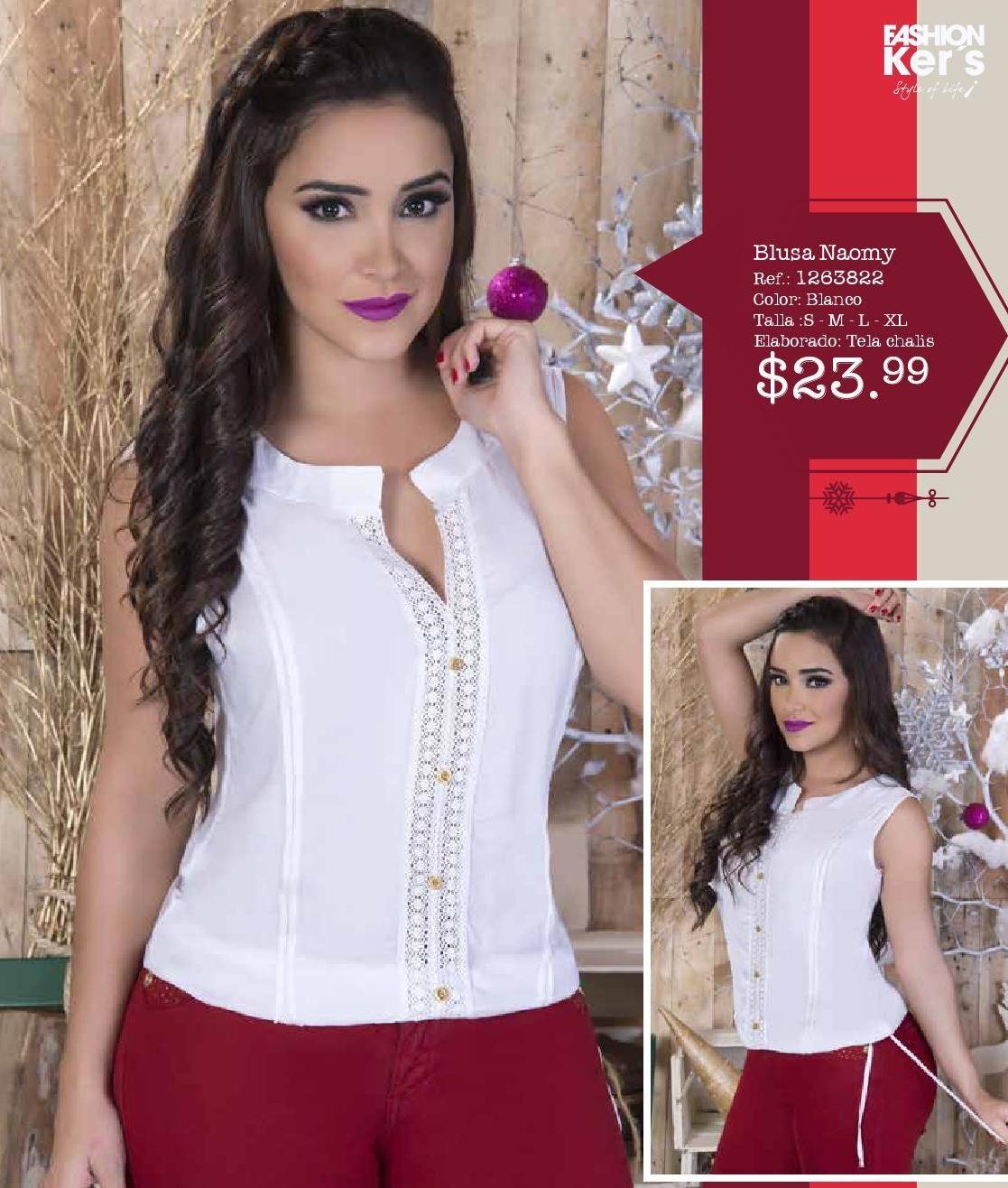 2014catalogo Kers Campana 38 Fashion Women Shirts Blouse Lace Frocks