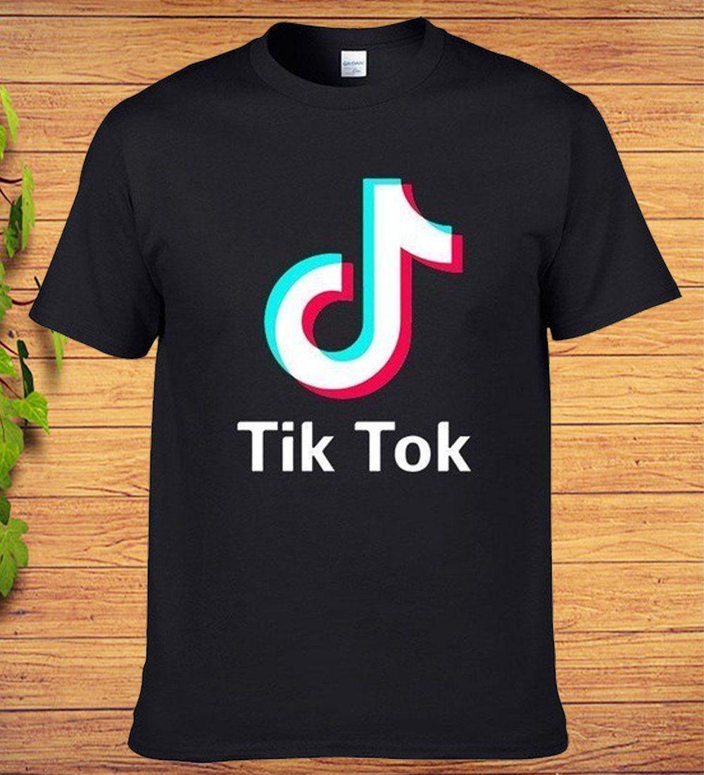 TikTok Printed Funny Tik Tok Tshirt in 2020 T shirt