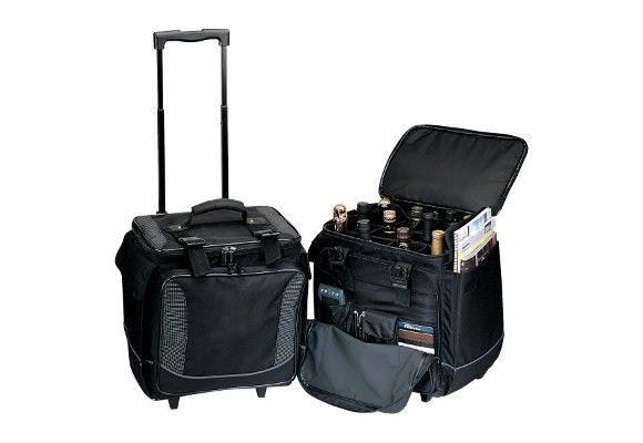 Wine Luggage For 12 Bottles Travel Wine Travel Bag Rolling Cooler Bottle Bag