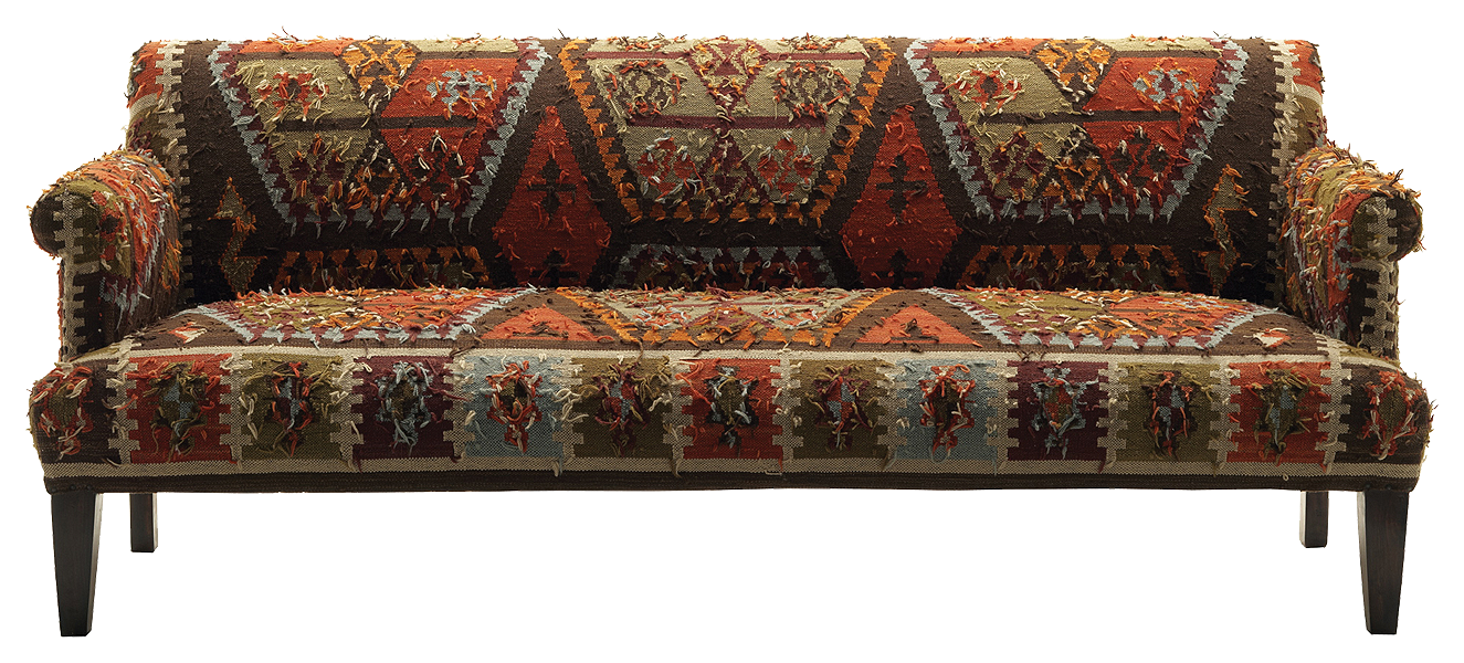 Living room: this terracotta kilim sofa has the exact right look and ...