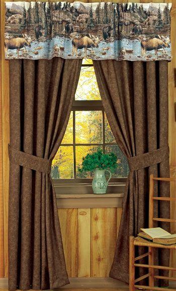 Big Moose Creek Rustic Curtains Drapes Valances Pillows Rustic Curtains Curtains Drapes Curtains