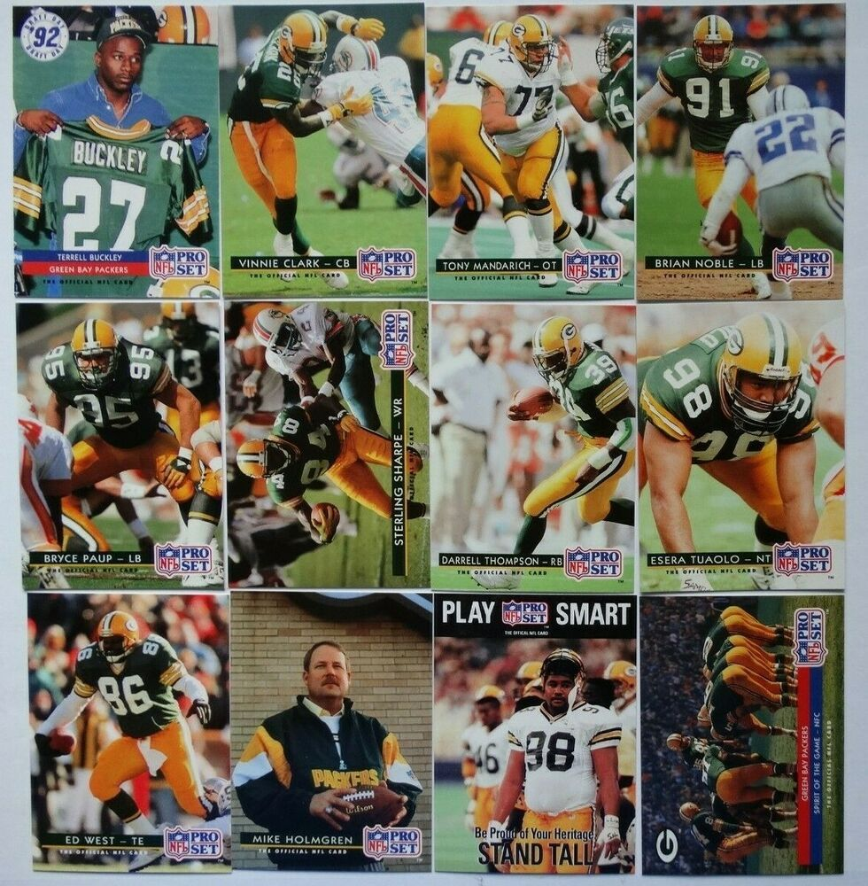 Details About 1992 Pro Set Series 1 Green Bay Packers Team Set Of 12 Football Cards In 2020 With Images Green Bay Packers Team Packers Team Football Cards