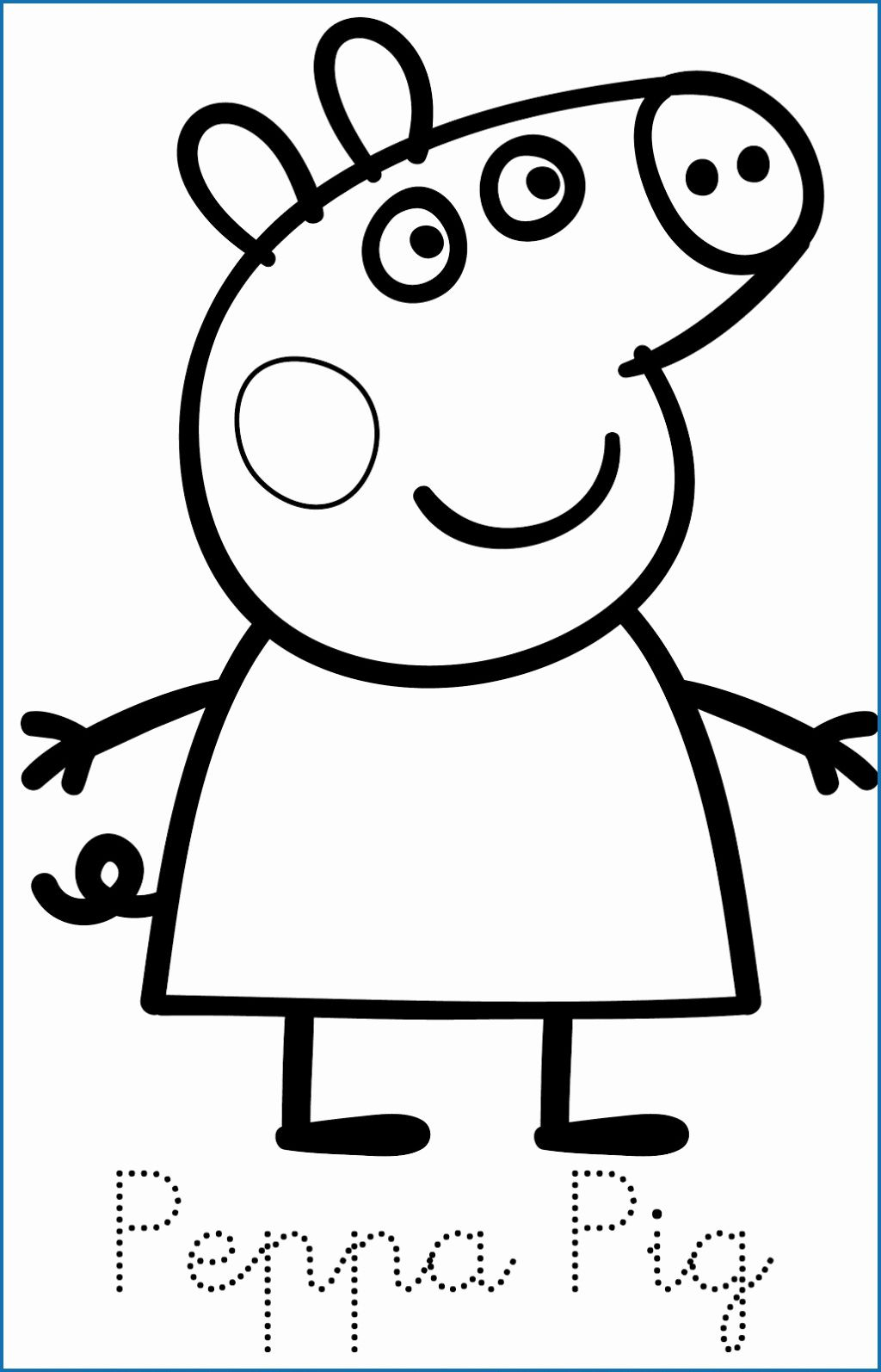 Coloring Cartoons Peppa Pig Luxury Peppa Pig Coloring Pages