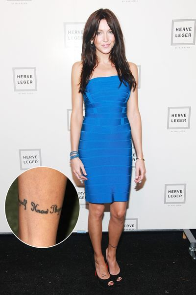 above the ankle tattoo...i like it.