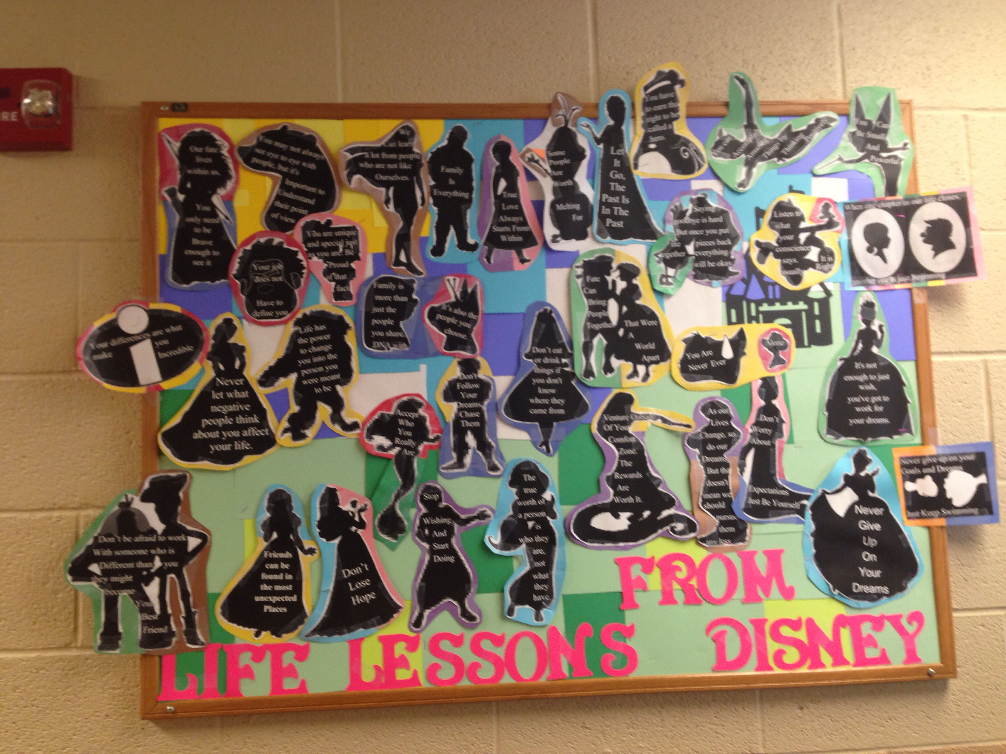 Life Lessons From Disney Ra Bulletin Board My Floor