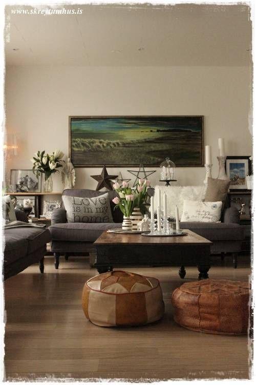 Ikea Stocksund sofa - Vintage - Living room Af blogginu My Blog