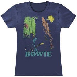David Bowie Guitar Girls Jr Soft tee