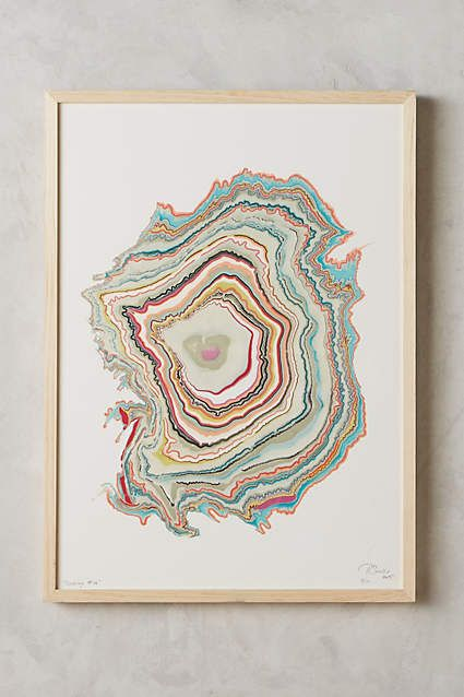 Anthropologie Wall Art wood rings wall art | woods, walls and art prints