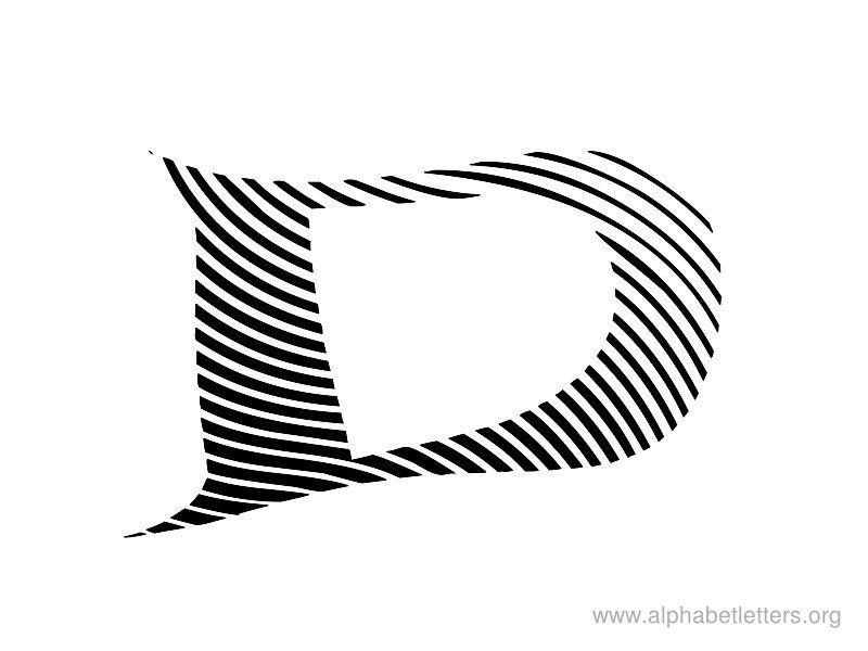 Only Zebra Print Letters A-Z Alphabet Letters D Printable Letter D