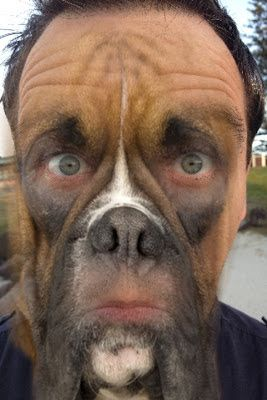 man with dog face