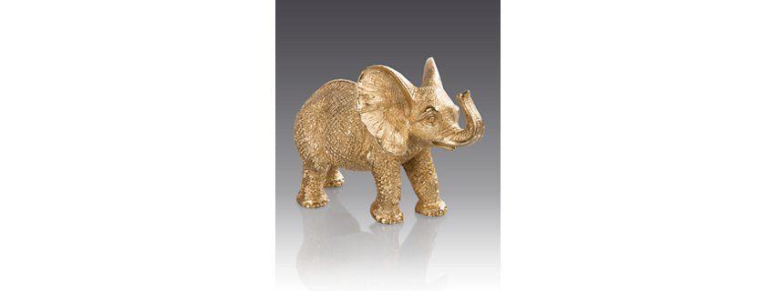 Effie Elephant Figurine - Gold