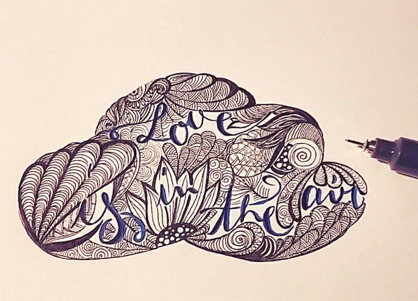 Love is in the air #handlettering #art #kunst #typography
