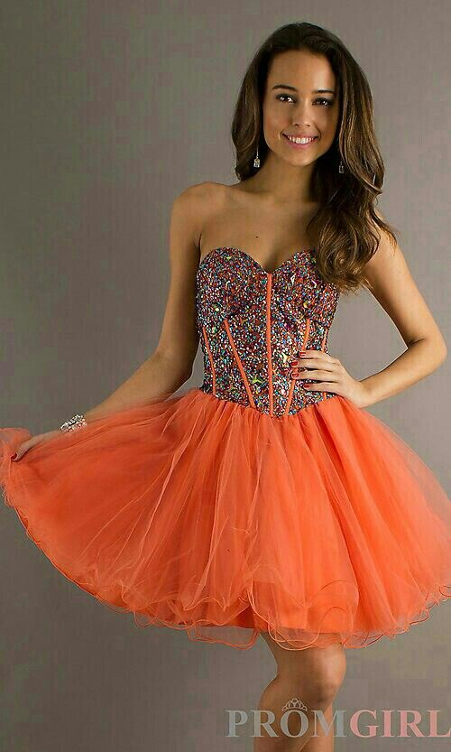 Short Orange Prom Dress   Beautiful Prom Dresses   Pinterest   Prom ...