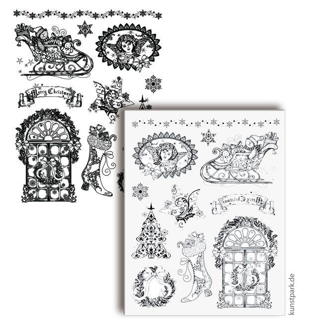 Viva Decor Silikonstempel 14x18 cm - Weihnachtsmotive nostalgisch