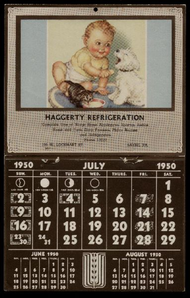 1950 Calendar A Moment In Time Vintage Calendar