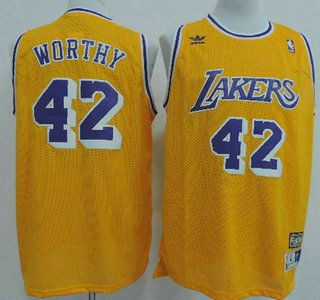 be53feb81 ... Los Angeles Lakers Jersey 42 James Worthy Yellow Throwback Swingman  Jerseys James Worthy Los Angeles Lakers Adidas NBA ...