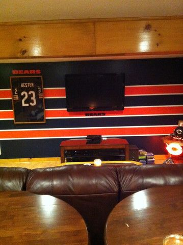 Awesome Man Caves Of The Week September 2 2014 Man Cave Official NFL Paint  Colors Official Chicago Bears Paint Colors