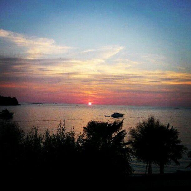 Sunset. Zelena Laguna, Porec, Croatia Porec, Croatia, Laguna