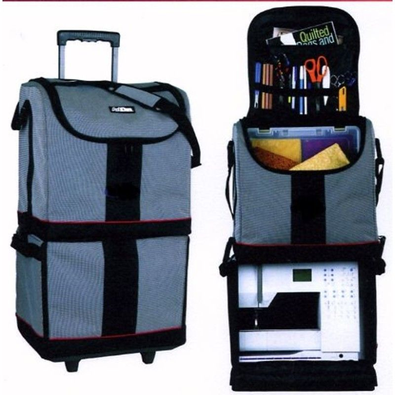 valise de transport universelle sur roulettes pour machine coudre et surfileuse luggage. Black Bedroom Furniture Sets. Home Design Ideas