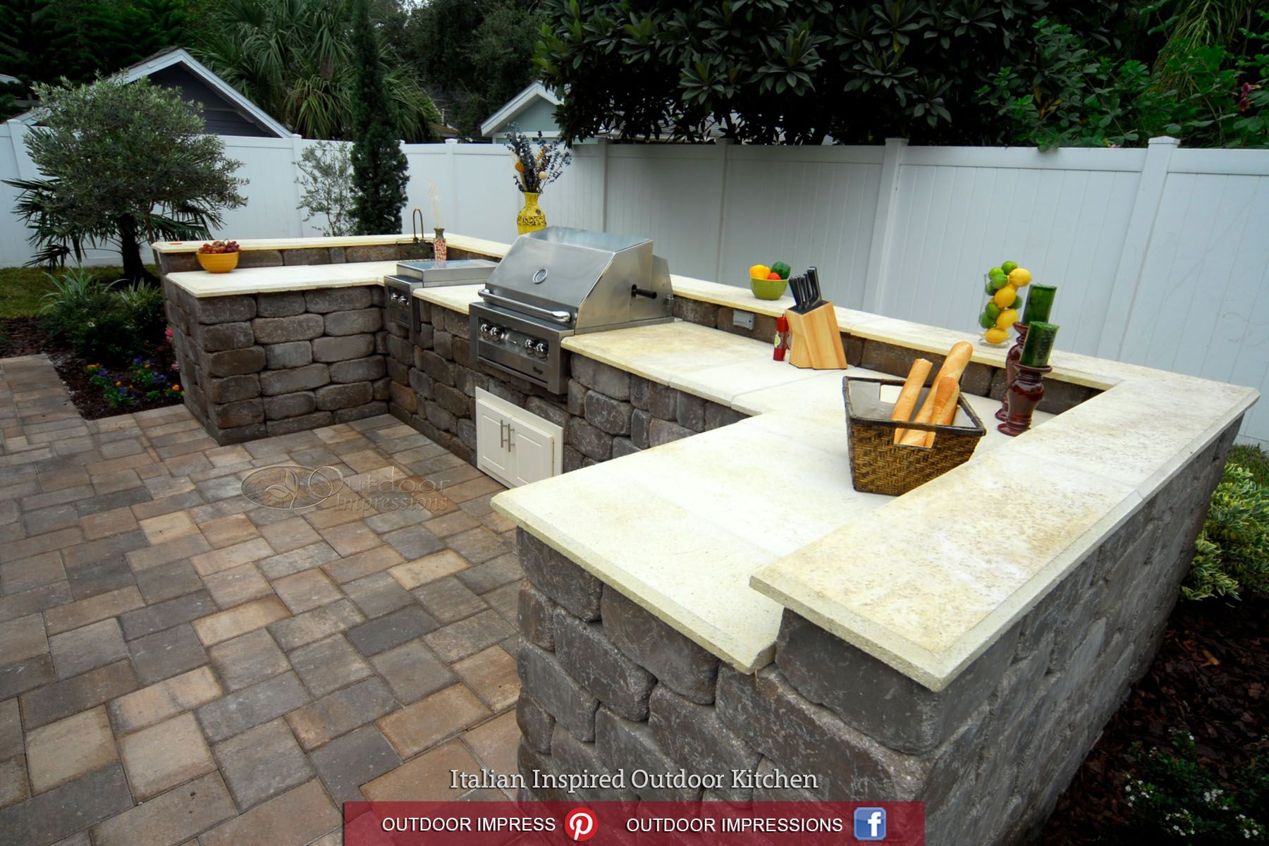 Italian Outdoor Kitchen Yard Crashers Fischer Italian Inspired Outdoor Kitchen Angled