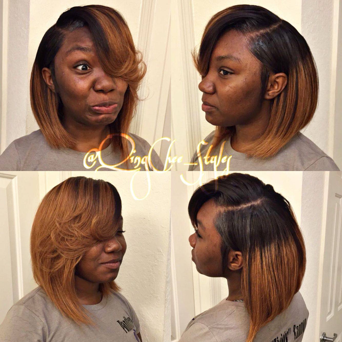 Deep Side Part Bob Sew In Hair Life You Bout It In 2019