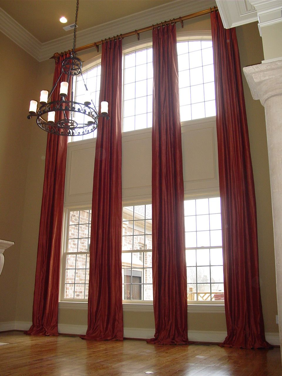 Two Story Living Room Curtains Customized Long Window Curtains For Large Windows On The Cheap 2