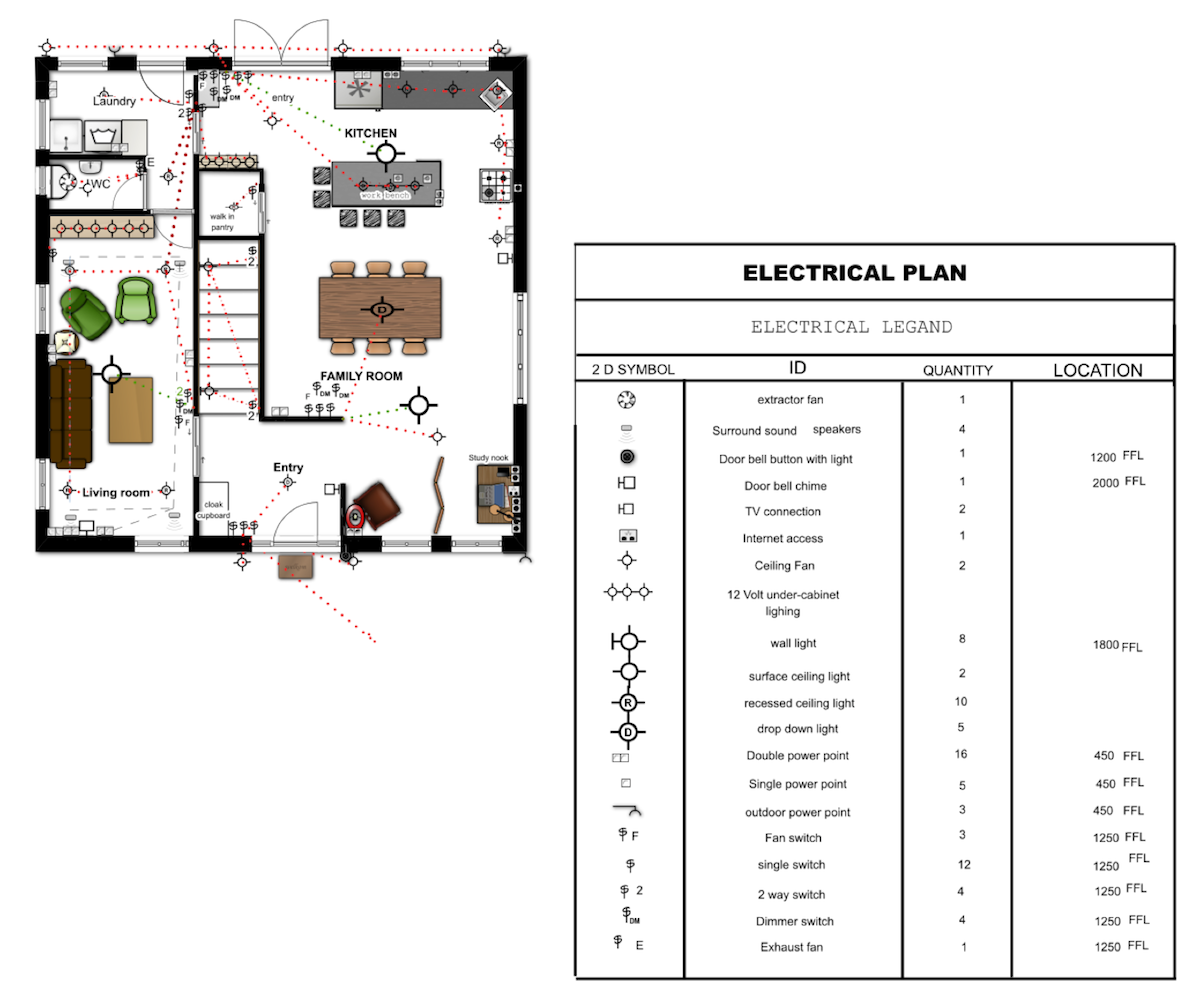Well done electrical plan using Floorplanner.com | Cool floorplans ...