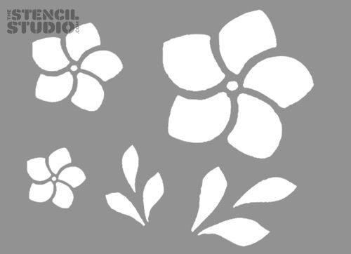 frangipani-flower-stencil-set-[3]-615-p.jpg (500×362) For ...