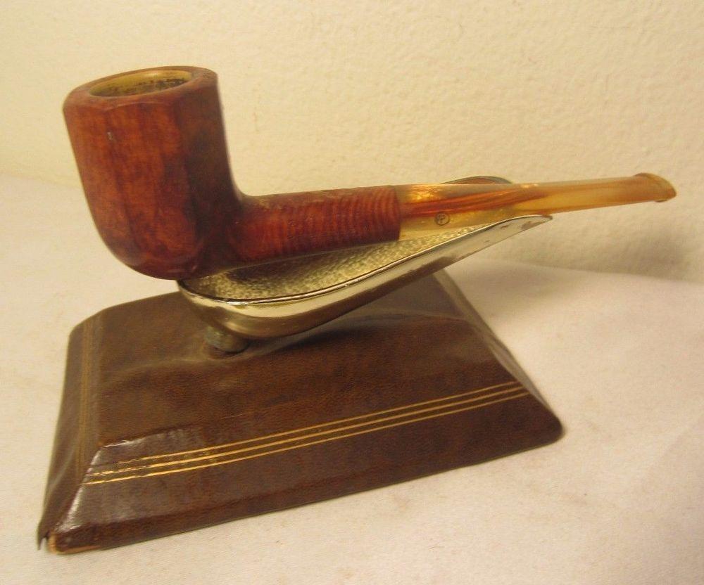 Vintage estate pipe dr grabow golden duke filtered pipe imported briar - Kbb Yello Bole Premier Panel Billiard Briar Estate Tobacco Pipe W Acrylic Stem