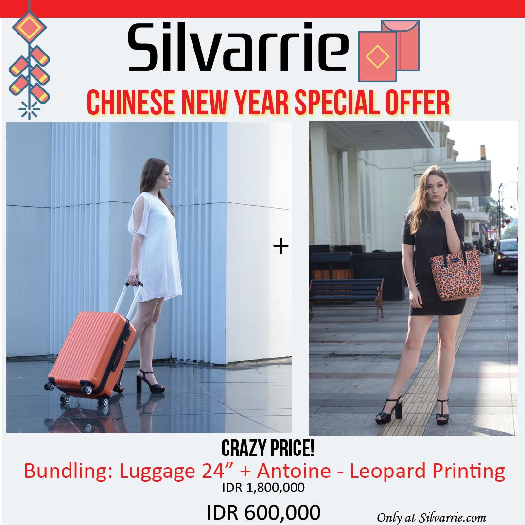 Super Crazy Deal Bundling Antoine Orange Printing Travel Case Voucher Carrefour Rp 500000 24