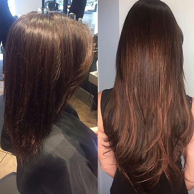 Beautiful Before And After Total Eclips Kelowna Extensions Expert